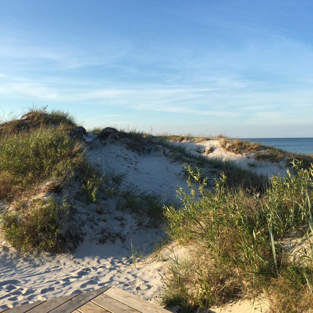 En sommerdag hos Eco Beach camp, Bilka Strand