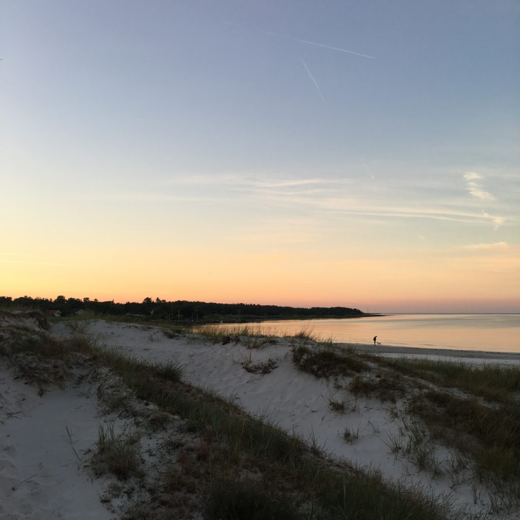 Fortryllende aftenhimmel hos Eco Beach camp, Bilka Strand